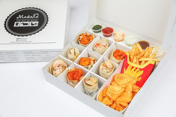 Creazy wrap box  masala wrap box