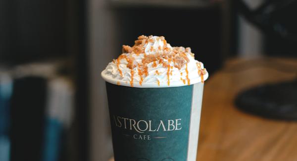 Toffee crunch latte