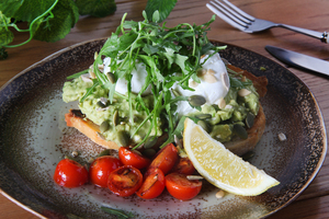 Drivu Smashed Avocado with Poached Eggs