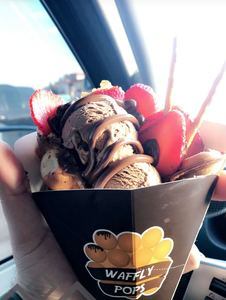 Drivu Strawberry with Nutella and ice cream