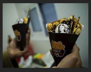 Drivu Nutella with ice cream and oreao