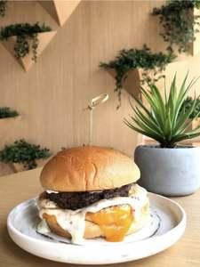 Drivu Burrata Mushroom Burger