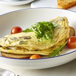 Drivu Mushroom, Feta, & Rocket Omelette