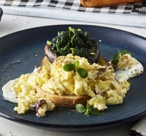 Drivu Arabian Scrambled Eggs & Mushrooms