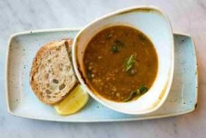 Drivu Lentil Soup with Spinach & Lemon