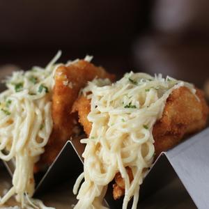 Drivu Chicken Stuffed Spaghetti