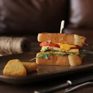 Drivu Egg & Rocca Sandwich