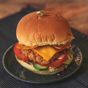 Drivu Mexican Doritos Chicken Burger
