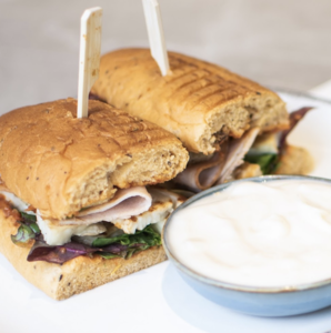Drivu Turkey Halloumi Sandwich