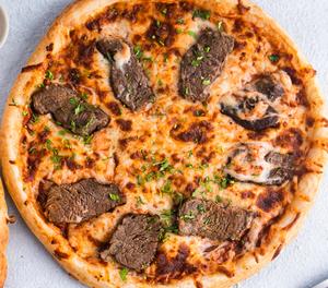 Drivu Beef mustard pizza