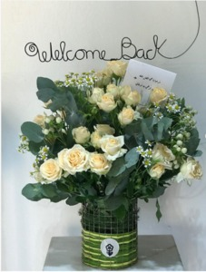 Drivu Welcome Back Arrangement with Our Signature Vase