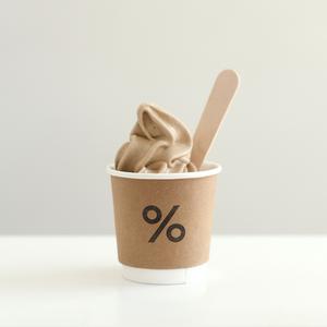 Drivu % Arabica Ice Cream 4oz (cup)