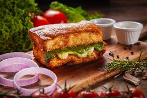 Drivu Pesto Chicken Focaccia Toast