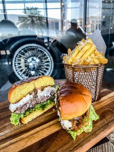 Drivu Wagyu Burger with Truffle Fries