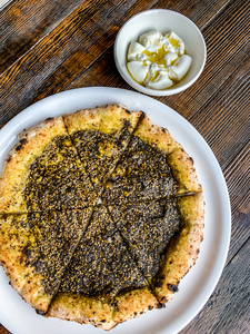 Drivu Zaatar with Burrata Cheese Pizza