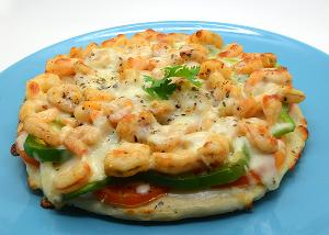 Drivu Shrimp Melt Pizza