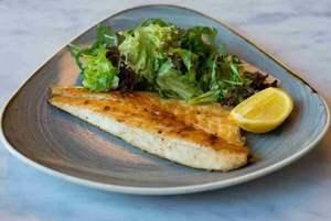 Drivu 170g Sea Bass - Raw Weight With Side Salad