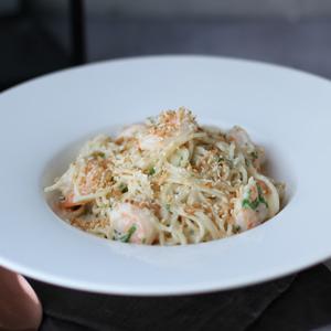 Drivu Spaghetti Genovese Shrimp
