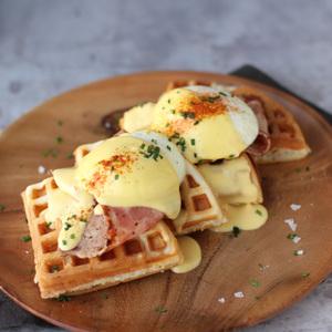 Drivu Benedict on Waffles
