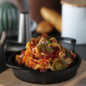 Drivu Potato Bolognese