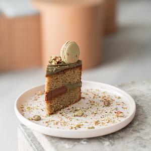 Drivu Pistachio Gianduja Cake