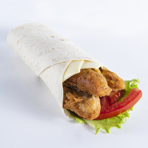 Drivu Fried Chicken Strips With Cheese In Tortilla Wrap