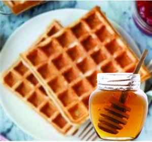 Drivu Waffle with Honey