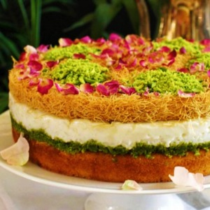 Drivu Kunafa Rice Pudding Cake