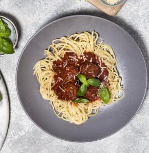 Drivu Spaghetti and Plant-based Meatballs