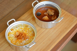 Drivu Marak Laham with Saffron Rice