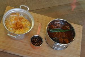 Drivu Marak Zubaidi with Saffron Rice