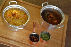 Drivu Marak Rubian with Saffron Rice