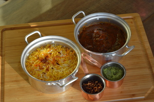 Drivu Marak Hammour with Saffron Rice