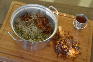 Drivu Bajilla Rice with Laham