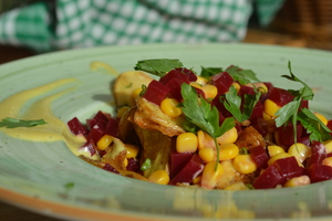 Drivu Grilled Potato with Beetroot Salad
