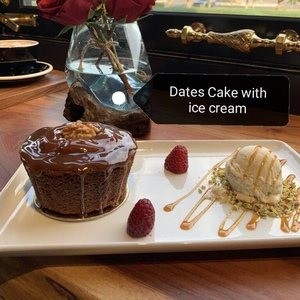 Drivu Dates Cake with Ice Cream