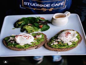 Drivu Avocado Healthy Toast Bread with Feta Cheese