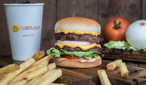 Drivu Cali double burger meal