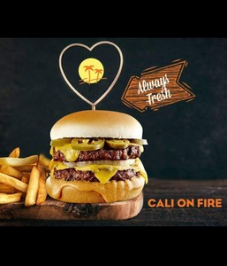 Drivu Cali on fire double burger