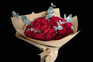 Drivu Hand Bouquet with 20 Red Roses with Wrapping