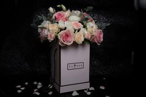 Drivu Flowers White Box & Mix Flowers Colors