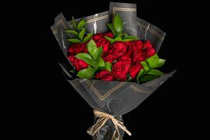 Drivu Red Bouquet with Black Wrapping