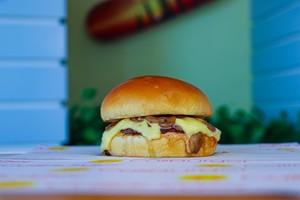 Drivu Mushroom & Swiss Single Burger Meal