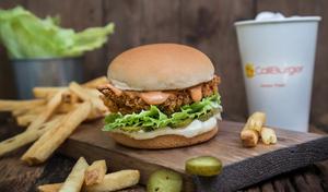 Drivu Crispy Chicken Burger Meal