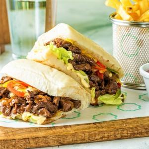 Drivu Teriyaki Steak Sandwich
