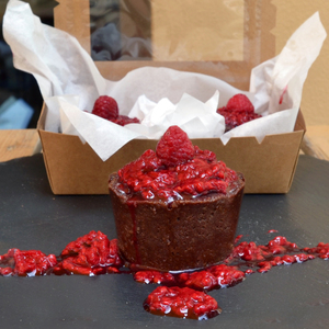 Drivu Gluten Free/Sugar Free Raw Vegan Chocolate Raspberry Tartlet