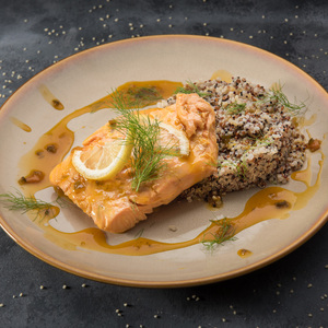 Drivu Orange Glazed Poached Salmon