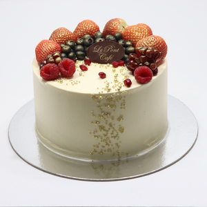 Drivu Pistachio Cake with Berries on Top