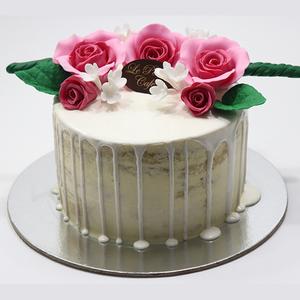 Drivu Vanilla Cake with White Glaze on Top