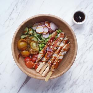 Drivu  Teriyaki Chicken Poke Bowl